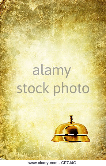 shop or hotel service bell - Stock Image