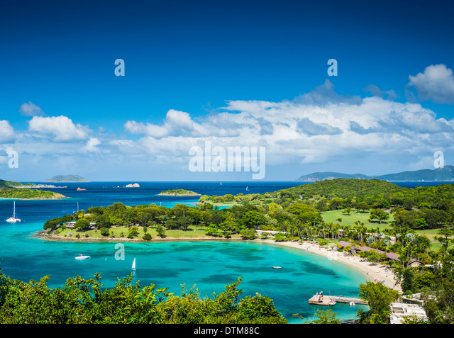 St John, United States Virgin Islands at Caneel Bay - Stock Image
