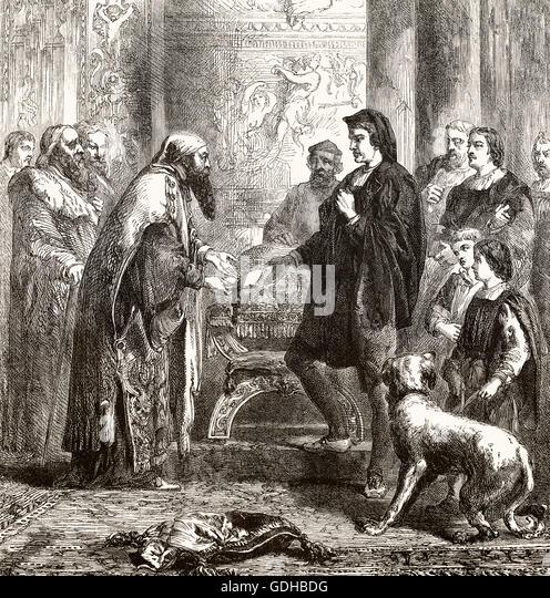Migration of Byzantine scholars, Cosimo di Giovanni de' Medici, 15th century, Florence, Italy, Europe - Stock-Bilder