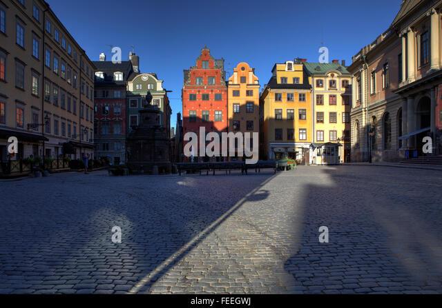 Stortorget Square, Gamla Stan, Stockholm, Sweden - Stock Image