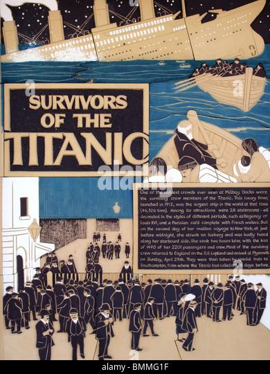 survivors of the titanic mosaic - Stock-Bilder