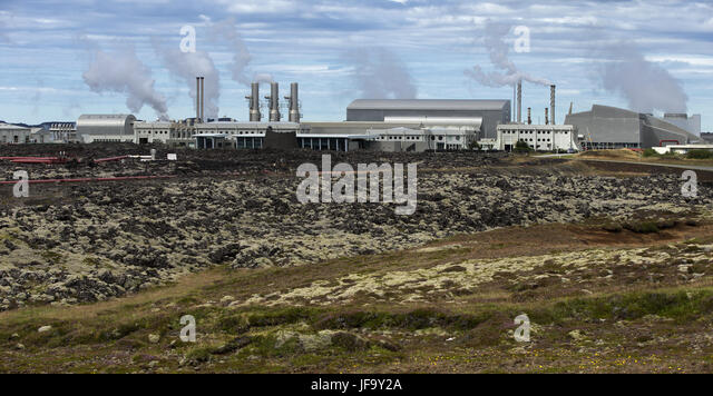 Geothermal Power Station in Iceland - Stock Image