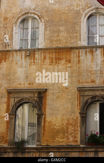 a beautifully elegant and decayed building in Tivoli, Italy, art, history, art cities, tourism, www.photoarkive.com - Stock Image