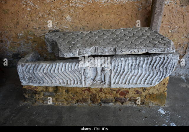 Sarcophagus, Espagnet, France - Stock Image