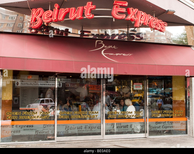 Beirut Express on the Edgware Road in London - Stock Image