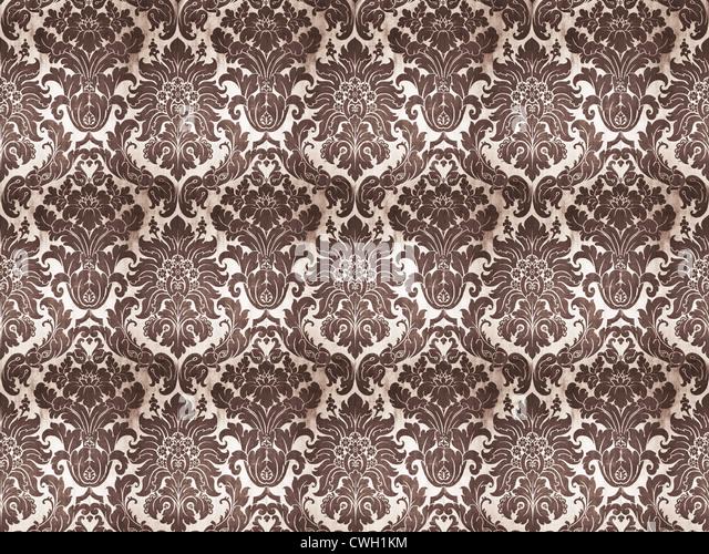 wallpaper,ornament - Stock Image