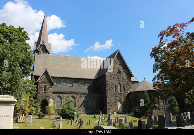 St. Peter's Church, Westminster Square, Bronx, New York - Stock Image