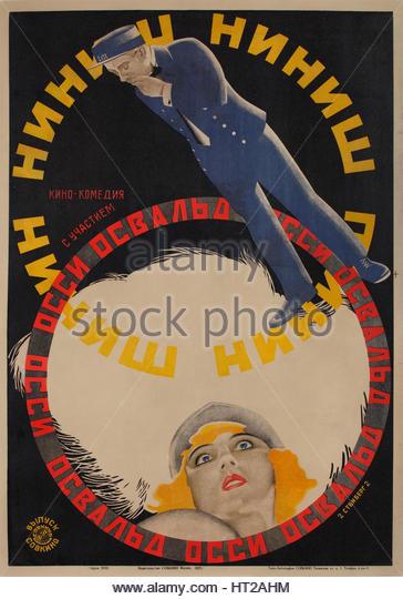 Movie poster Niniche, 1927. Artist: Stenberg, Georgi Avgustovich (1900-1933) - Stock Image