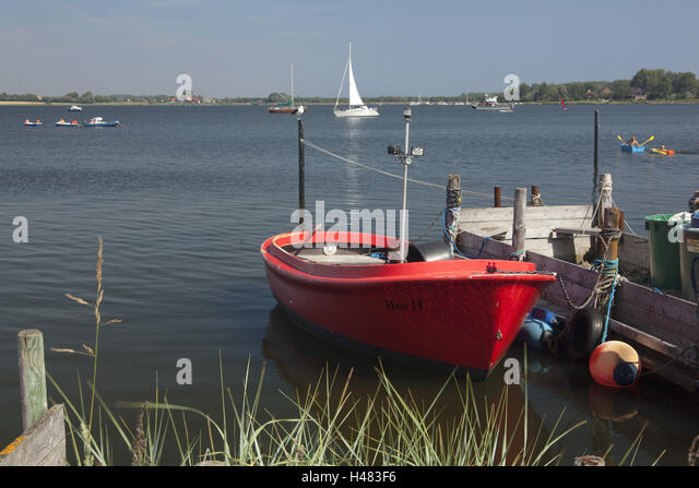 Germany, Schleswig - Holstein, region angling, Meuse cross-beam, fishing boats, - Stock Image