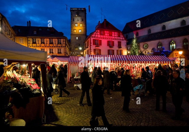 Alsace christmas market stock photos alsace christmas for Blue piscine colmar