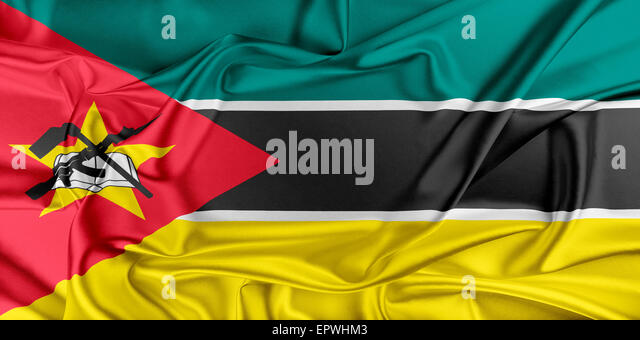 Flag of Mozambique - Stock Image