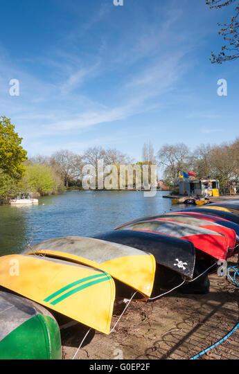 Boating Lake at Finsbury Park, London Borough of Haringey, Greater London, England, United Kingdom - Stock Image