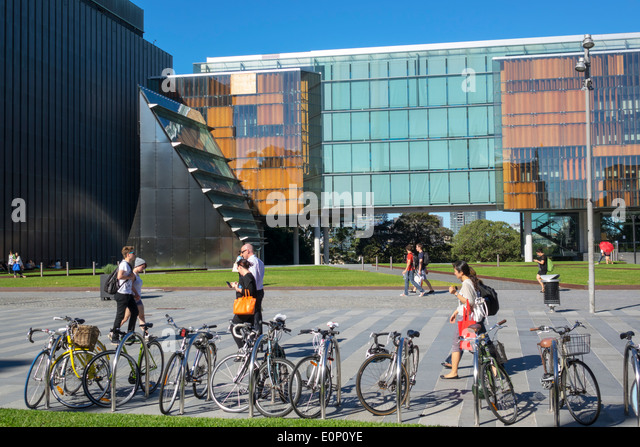 Sydney Australia NSW New South Wales University of Sydney education campus student New Law Building glass Fisher - Stock Image