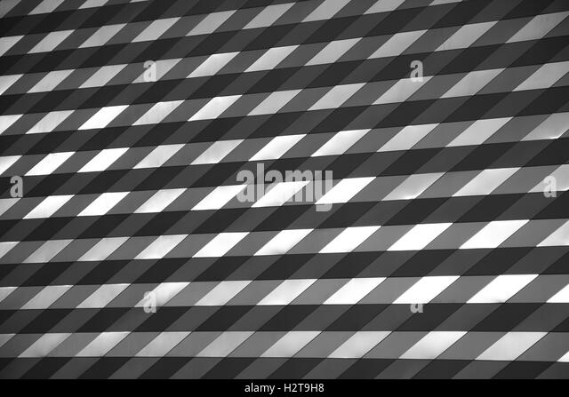 Architecture abstract pattern background black and white - Stock Image