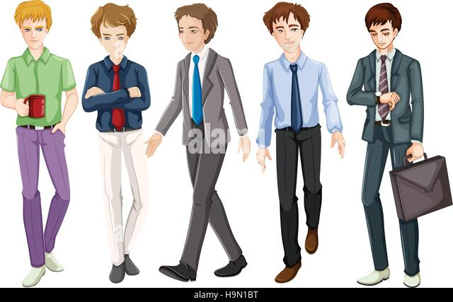 suit and tie stock vector images alamy