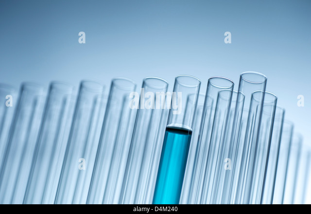 Tube filled with liquid - Stock Image