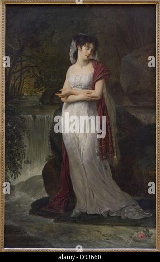 Baron Antoine-Jean Gros Christine Boyer XIX th Century French school Louvre Museum - Paris - Stock Image