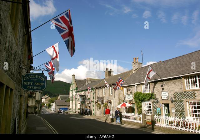 Castleton Village High Peak Derbyshire Stock Photos