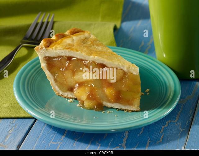 A slice of apple pie - Stock Image