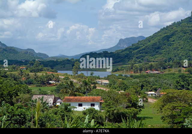 Cuba - landscape in the Vinales valley, Cuba - Stock Image