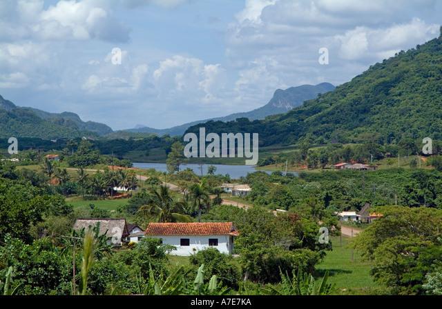 Cuba - landscape in the Vinales valley, Cuba - Stock Image