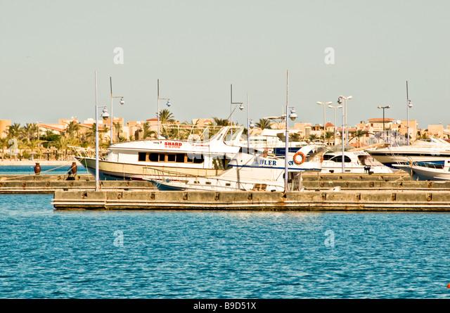 International Yacht Marina Porto Marina Resort and Spa Egypt North Coast Mediterranean coast - Stock Image