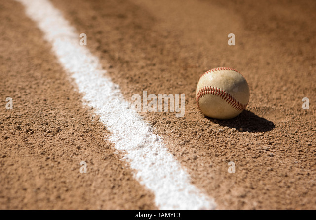 Inside the line - baseball concepts - Stock Image
