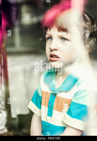 a small boy - Stock Image
