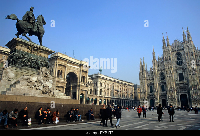 Duomo di Milano cathedral, Milan, Italy in the evening. - Stock Image