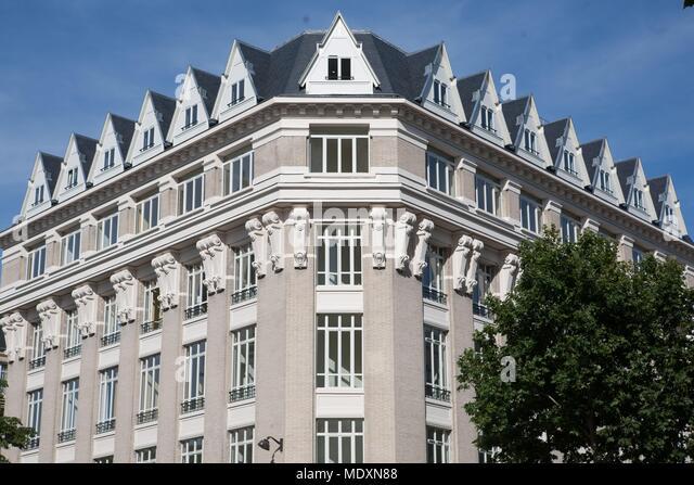 Paris, boulevard du Montparnasse, renovated building, - Stock Image