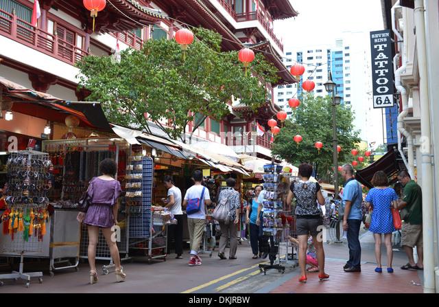 Sago Street, Chinatown, Singapur - Stock Image