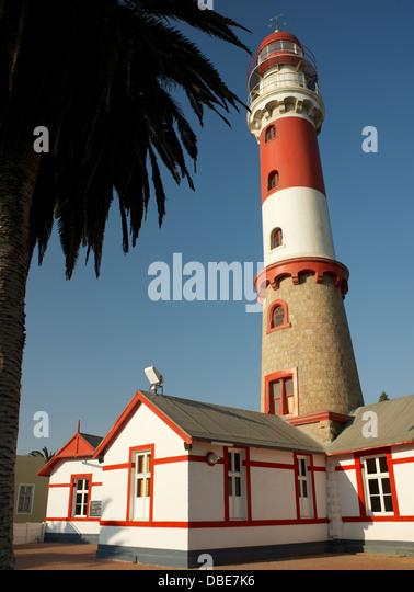 Swakopmund lighthouse Namibia Africa - Stock Image