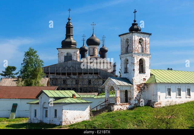 The Goritsky Monastery of Resurrection Volga Baltic - Stock Image