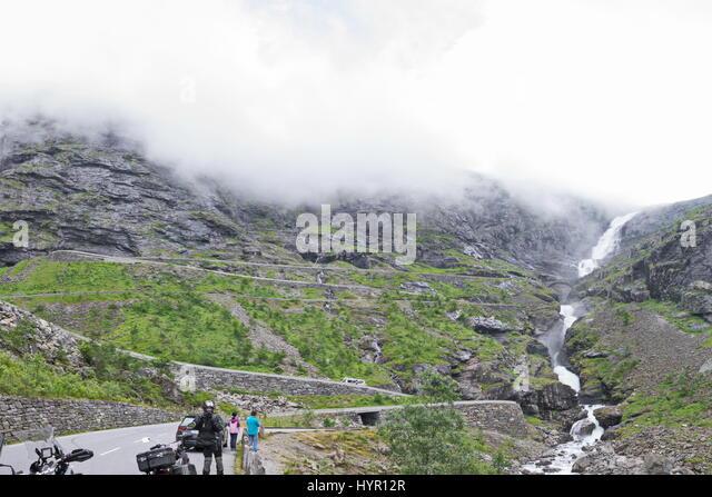 Trollstigen Road - Stock Image