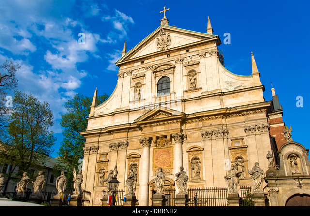 Church of SS Peter and Paul, Krakow, Poland - Stock Image