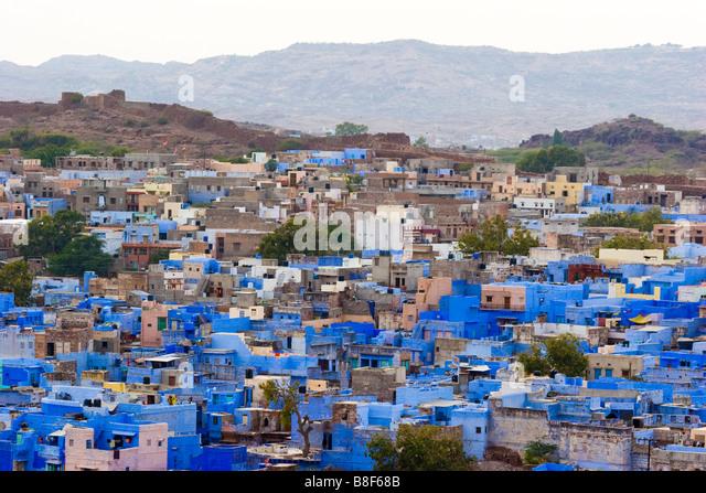 City View Jodhpur Rajasthan India - Stock-Bilder