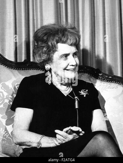 Pearl Mesta was Washington's best-known political hostess in the 1940s and 1950s. Ca. 1970. She was portrayed - Stock Image