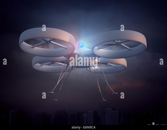 Police drone - unmanned aerial vehicle law enforcement - Stock-Bilder