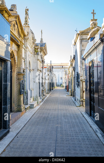 View of Recoleta Cemetery in Buenos Aires, Argentina - Stock Image
