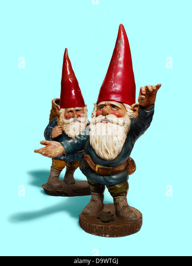 garden gnome - Stock Image