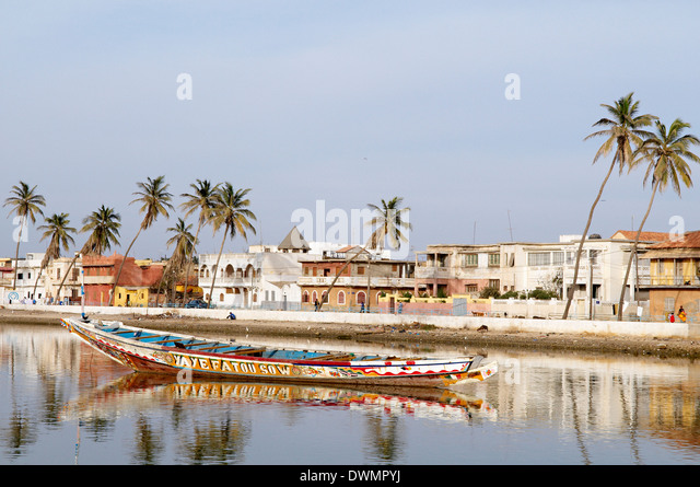 Senegal River and the city of Saint Louis, UNESCO World Heritage Site, Senegal, West Africa, Africa - Stock Image