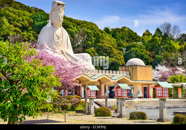 Kyoto, Japan at Ryozen Kannon war memorial in the spring season. - Stock-Bilder