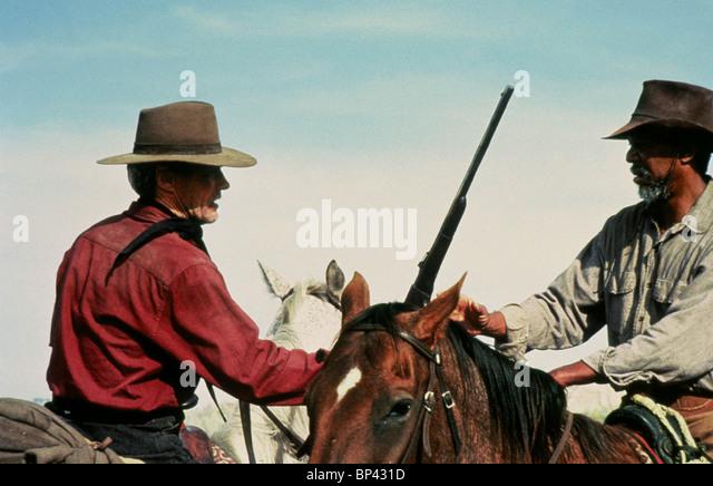 CLINT EASTWOOD MORGAN FREEMAN UNFORGIVEN (1992) - Stock Image