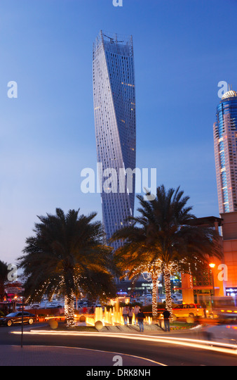 Dubai Marina. The twisted tower (Cayan tower). - Stock Image