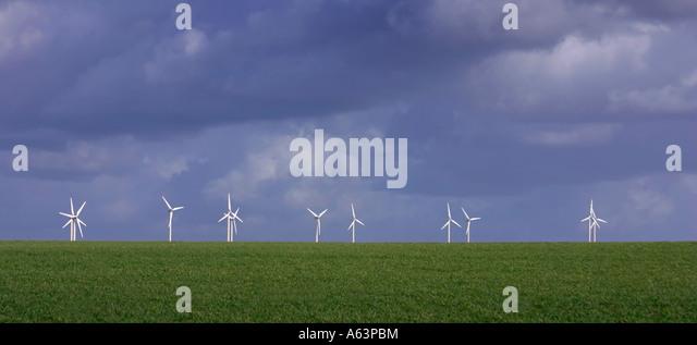 Wind farm in Cornwall UK - Stock-Bilder