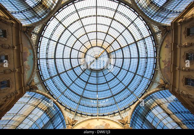 Galleria Vittorio Emanuele II, Milan, Italy - Stock Image