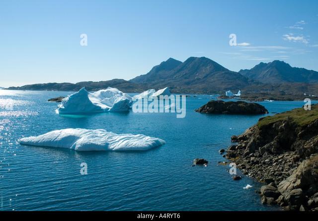 Kong Oscars Havn, Tasiilaq, Angmagssalik Island, Sermilik Fjord, East Greenland - Stock Image