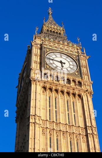 Big Ben; Westminster; London; England - Stock Image
