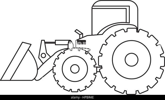 Modern Tractor Symbol Stock Vector Image Of Vector
