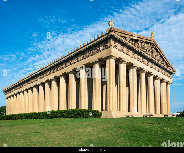 Parthenon Replica at Centennial Park in Nashville, Tennessee, USA. - Stock Image